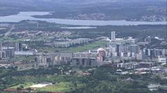 AERIAL Brazil-Brasilia In General Views Stock Footage