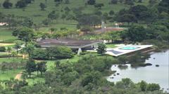 AERIAL Brazil-Palacio Da Alvorada Stock Footage