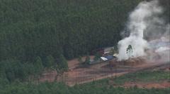 AERIAL Brazil-Charcoal Burning Near Paracatu Stock Footage