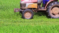 Grass cutting in ranch farm (2).mp4 Stock Footage
