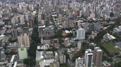 AERIAL Brazil-Passing Over Pampulha Stock Footage