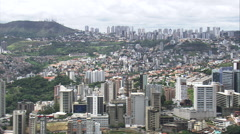 AERIAL Brazil-Passing Buritis District Stock Footage