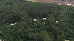 AERIAL Brazil-Geodesic Dome Stock Footage