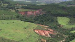 AERIAL Brazil-Old Mine Workings South Of Belo Horizonte Stock Footage