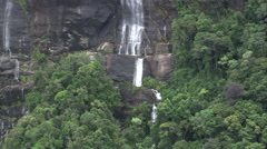 AERIAL Brazil-Waterfall In Serra Do Papagaio State Park Stock Footage