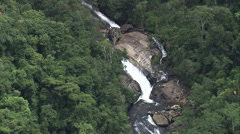AERIAL Brazil-Cachoeira Dos Macacos Stock Footage