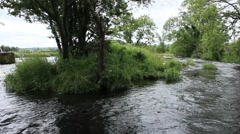 The Rapids close up The forth Stirling city Stock Footage