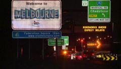 Welcome to Melbourne sign Stock Footage
