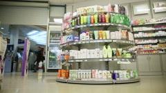 Drugstore interior Stock Footage