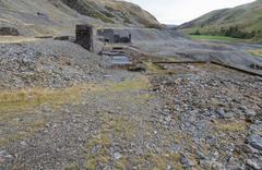 Disused lead mining area Cwmystwyth, Wales - stock photo