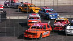 Hot rod car racing - stock footage