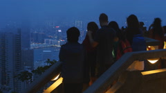 Tourist attraction Hong Kong Victoria Peak 4K Stock Footage