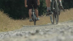 Cyclists Riding in Super Slow Motion - High Frame Rate 150fps 3 Stock Footage
