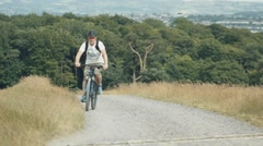 Cyclist Riding in Super Slow Motion - High Frame Rate 150fps Stock Footage