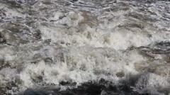 Flooding river. Brazilian river. Rio Piracicaba, Sao Paulo, Brazil. Stock Footage