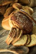 Stock Photo of Different Types of Bread Food Concept
