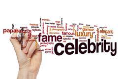 Celebrity word cloud Stock Photos