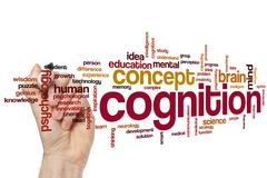 Cognition word cloud Stock Photos