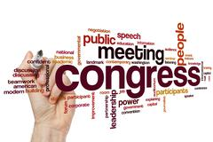 Congress word cloud - stock photo