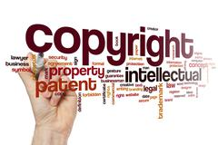 Copyright word cloud concept - stock photo