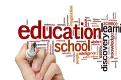 Stock Photo of Education symmetry word cloud