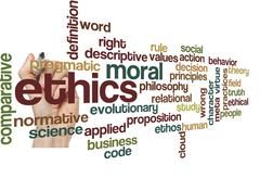 ethics moral philosophy background - stock photo