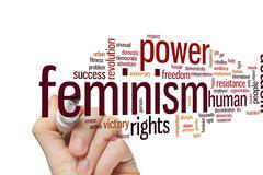 Feminism word cloud Stock Photos
