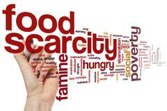 Food scarcity word cloud - stock photo