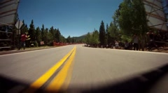 Race Car POV up Mountain Stock Footage