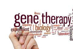 Gene therapy word cloud - stock photo