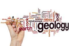 Geology word cloud Stock Photos