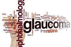 Glaucoma word cloud Stock Photos