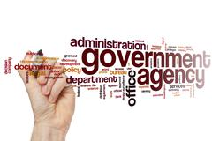 Government agency word cloud - stock photo