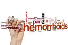 Hemorrhoids word cloud Kuvituskuvat