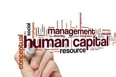 Human capital word cloud - stock photo