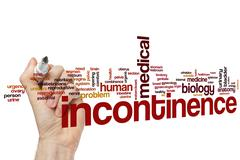 Incontinence word cloud Stock Photos