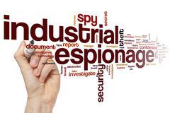 Industrial espionage word cloud - stock photo