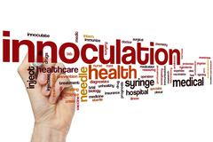 Innoculation word cloud - stock photo