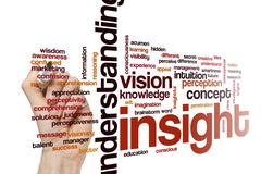 Insight word cloud concept Stock Photos