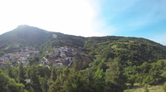 Village in the Greek moutians in Time Lapse (morning to afternoon) Stock Footage