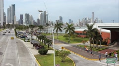 5-Mirador Cinta Costera Avenida Balboa Casco Antiguo Panama City Stock Footage