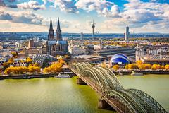 Aerial view of Cologne Stock Photos