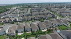 Aerial of suburbs - stock footage