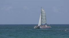 Catamaran near Fort Lauderdale in 4K Stock Footage