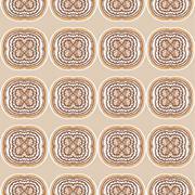 Seamless pattern with latte art coffee - stock illustration