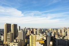 View of Curitiba Cityscape, Parana State, Brazil Stock Photos