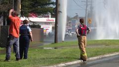 Water geyser looking on Stock Footage