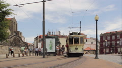 Porto - Electric Train Boarding Timelapse Stock Footage