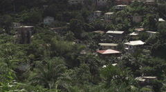 Caribbean houses on hill Stock Footage