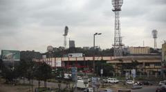 Outside of Nyayo Stadium, Nairobi, Kenya, Africa, long shot Stock Footage